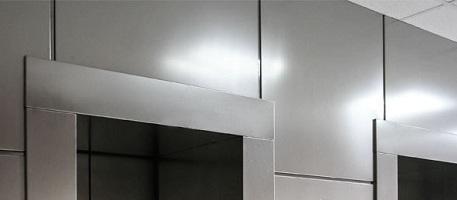 Облицовка стен нержавейкой – оригинальный дизайн помещения